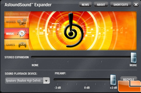 Astoundsound Audio Expander 3.0 Interface