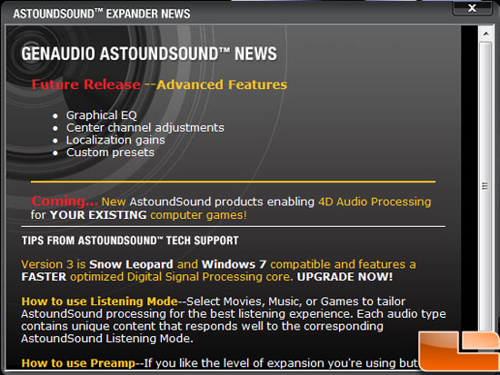 Astoundsound Audio Expander 3.0 News