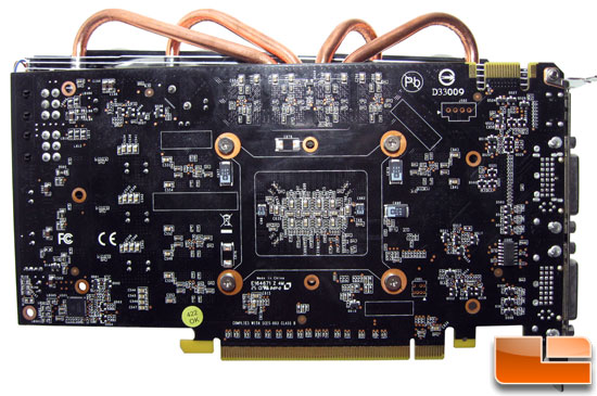 ECS GeForce GTX 460 1GB Black Bottom PCB Side
