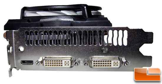 ECS GeForce GTX 460 1GB Black Connectors