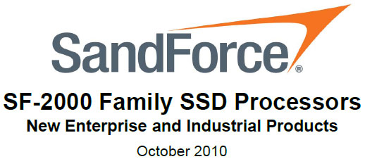 SandForce SF-2000 Series SSD Controllers Detailed
