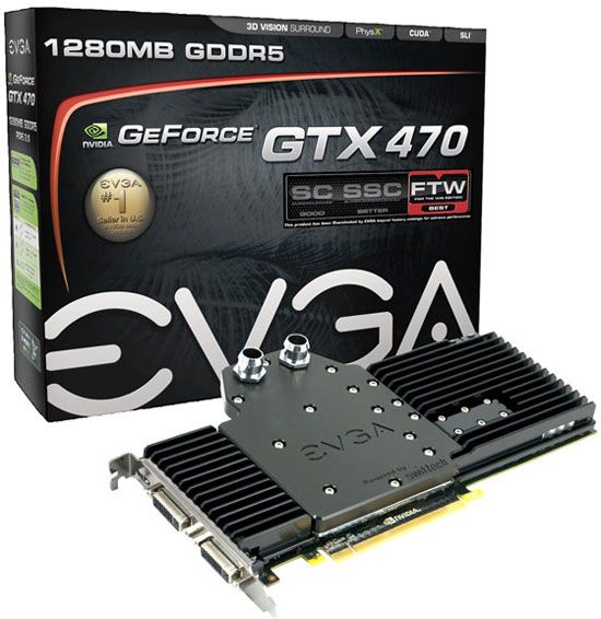 EVGA GeForce GTX 470 Hydro FTW Retail Packaging