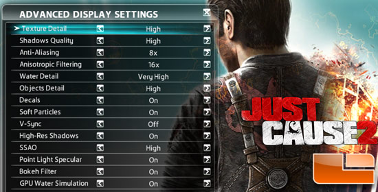 Just Cause 2 System Settings