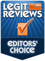 LegitReviews.com Editors Choice