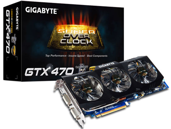 GIGABYTE GeForce GTX 470 SOC Edition Retail Box and Bundle