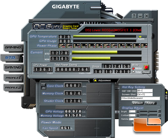 GIGABYTE GeForce GTX 470 Super Overclock Edition GPUZ