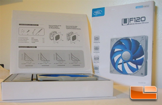 Deep Cool UF120 120mm Case Fan Retail Box Inside
