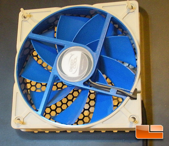 Deep Cool UF120 120mm Case Fan Mounted