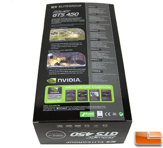 ECS GeForce GTS 450 Black Video Card Retail Box Back