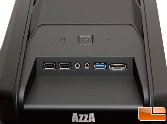 Front Input Ports of Azza Hurrican 2000