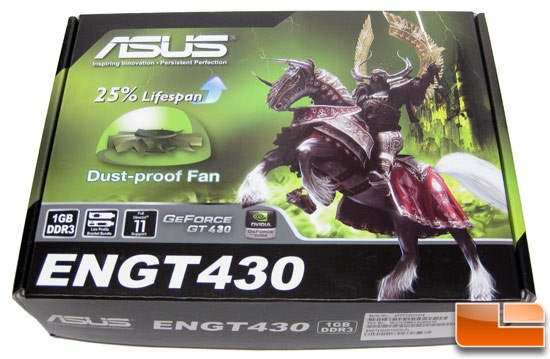 ASUS GeForce ENGT430 Top Video Card Retail Box Front