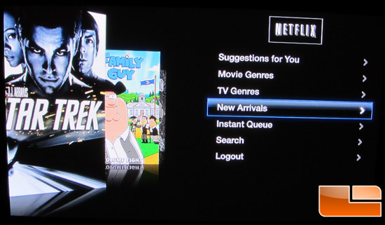 Apple TV Netflix GUI