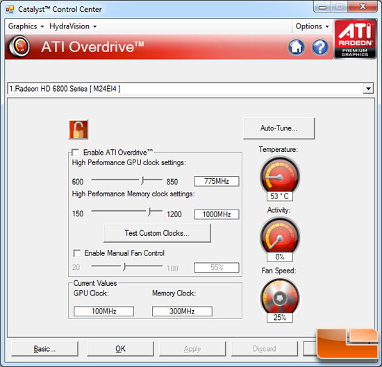AMD Radeon HD 6850 Video Card Overclocking