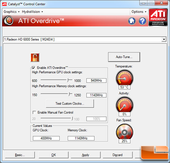 AMD Radeon HD 6870 Video Card Overclocking