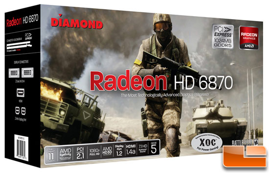 Diamond Radeon HD 6870 XOC 1GB Video Card Retail Box