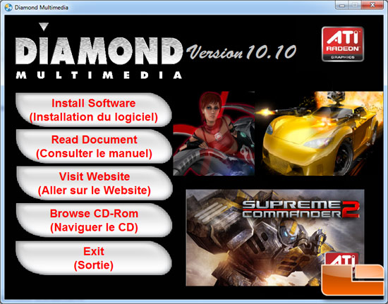Diamond Radeon HD 6870 XOC 1GB Video Card Software Disk