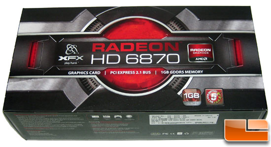 Sapphire Radeon HD 6870 1GB Video Card Retail Box
