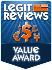 Legit Reviews Value Award