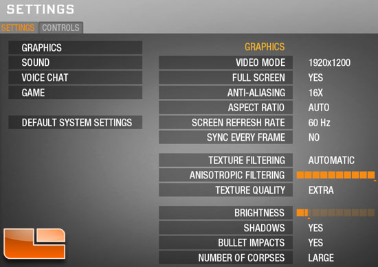 Call of Duty: Black Ops Benchmark Settings