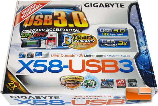 GIGABYTE GA-X58-USB3 Retail Packaging