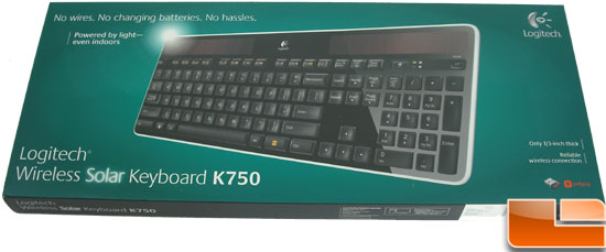 Logitech K750 Wireless Solar Keyboard Box front