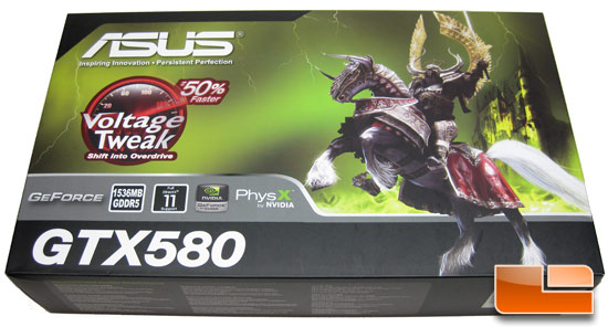 ASUS GeForce ENGTX580 Video Card Retail Box Front