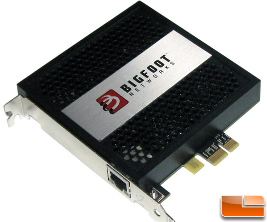 Bigfoot Networks Killer 2100 Gaming Network Card Review