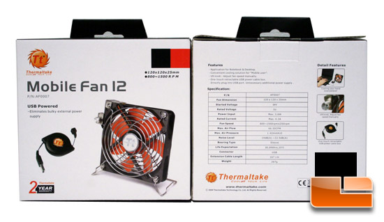 Thermaltake USB Powered Mobile Fan 12 Review