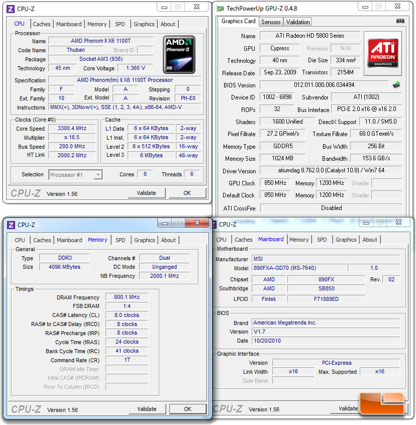 Amd Product S Benchmarks Overclocking Secrets Amd Phenom Ii X6 1100t Black Edition 3 3ghz Cpu Performance Secrets Review