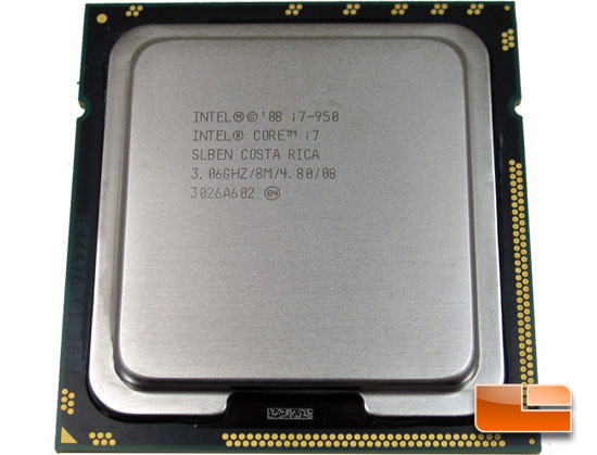 Intel Core I7 950 Processor Performance review