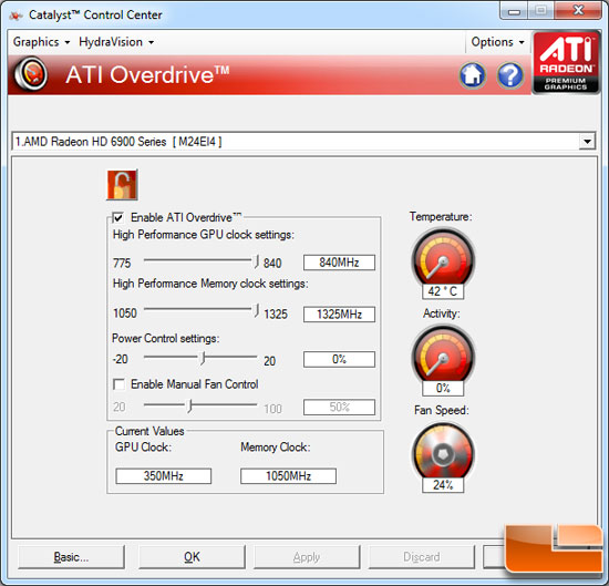 AMD Radeon HD 6950 Video Card Overclock