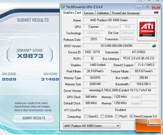 ATI Radeon HD 6950 OC Video Card Overclocking
