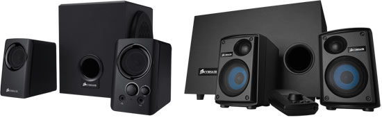 Corsair SP2500 and SP2200 Speaker Systems