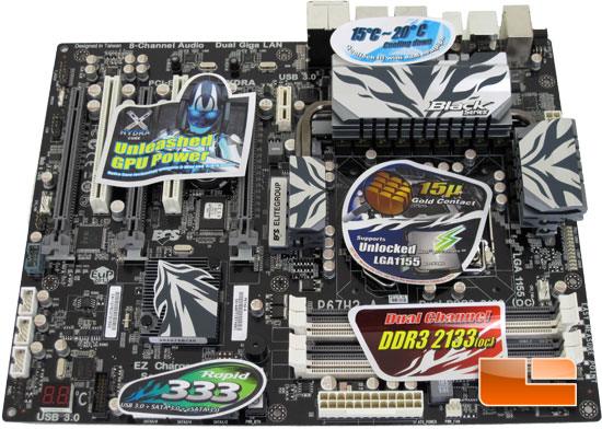 ECS P67H2-A Black Extreme Motherboard Layout