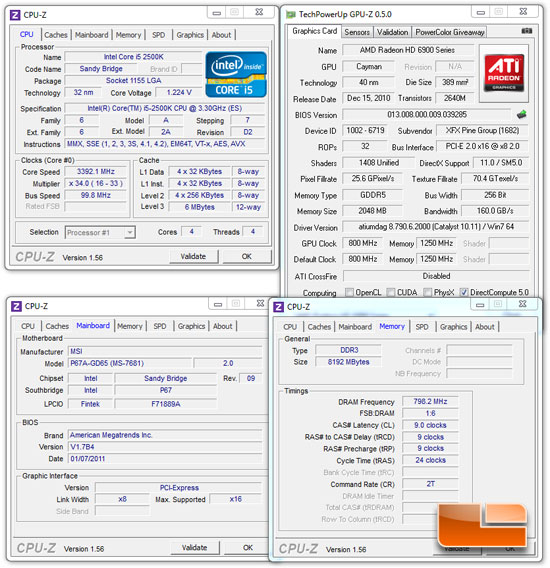 MSI P67A-GD65 System Settings