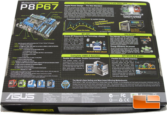 ASUS P8P67 Retail Box and Bundle