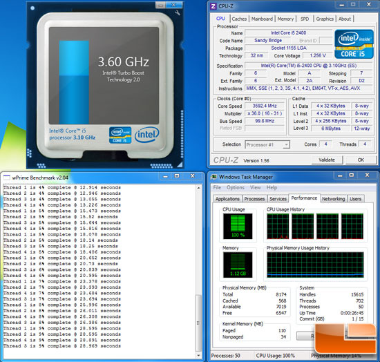 Intel Core i5 2400 3.6GHz Overclock