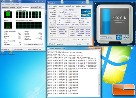 Intel Core i7 2600K 4.9GHz Overclock