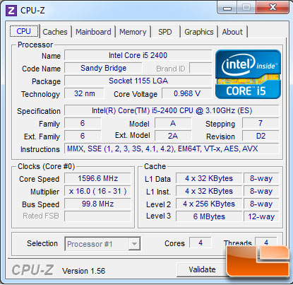 Intel Sandy Bridge Core i5 2400 Review