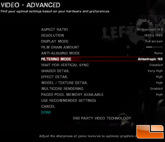 Left 4 Dead 2 Settings