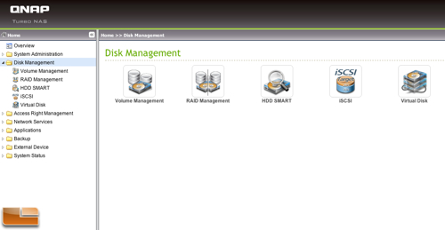 QNAP TS-419P+ Disk Management
