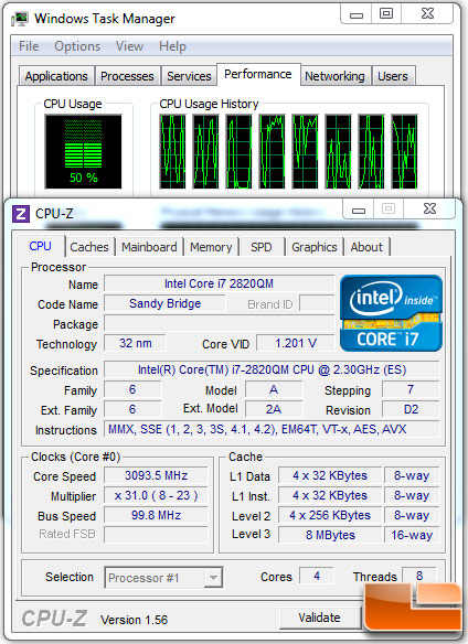 Intel Core i7 2820QM Sandy Bridge Processor Idle State