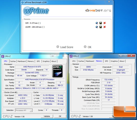 Phenom II X4 975 BE Overclock