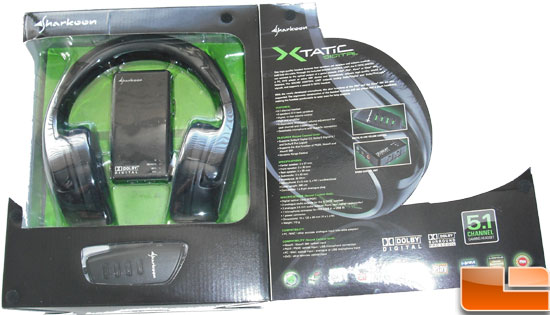 Sharkoon X-Tactic 5.1 Digital Headset Box Flap