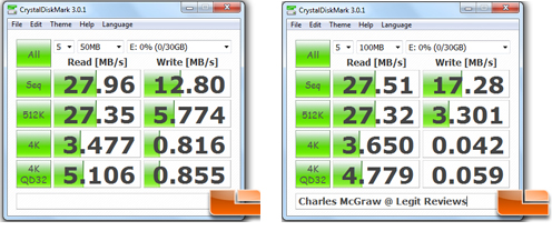 Crystal Disk Mark Benchmark