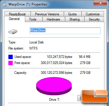 LSI WARPDRIVE PROPERTIES