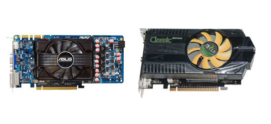 ASUS GeForce 9600 GSO 512MB vs AXLE GeForce GT 430
