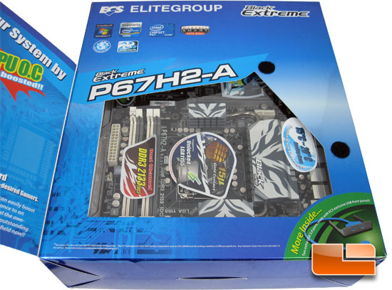 ECS P67H2-A Black Extreme Retail Packaging and Bundle