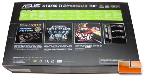 ASUS GeForce ENGTX560 Top Video Card Retail Box Front
