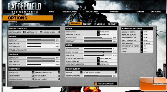 XFX Radeon HD 6850 Video Card Bad Company 2 Settings